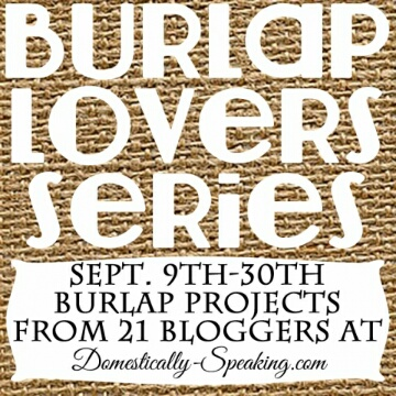 Domestically Speaking | Burlap Lovers Series