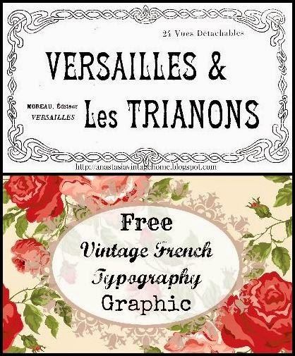Antique French Typography Printable – Postcard Book Cover