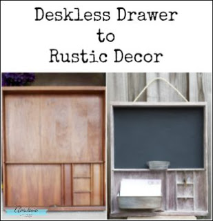 DIY Deskless Drawer to Rustic Decor | Anastasia Vintage