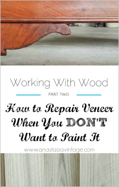 how to repair patch veneer wood furniture no paint