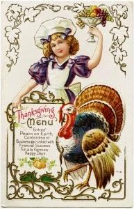 vintage Thanksgiving printable image