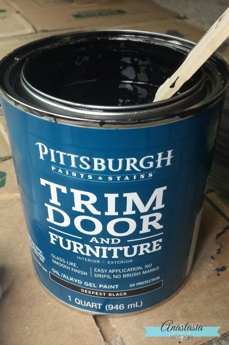 IKEA Rast Hack Pittsburgh Paints Stains Trim Door Furniture Deepest Black