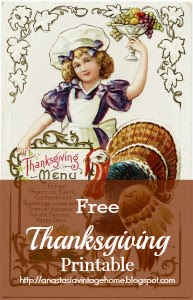 Antique Thanksgiving Postcard Printable