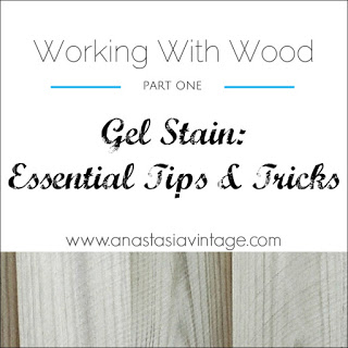 how to General Finishes gel stain wood furniture