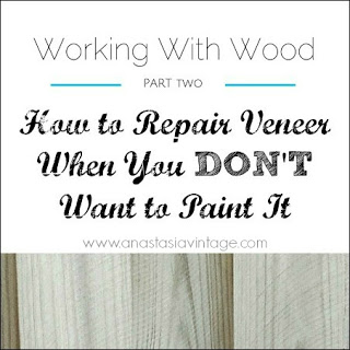 how to patch repair veneer unpainted wood furniture