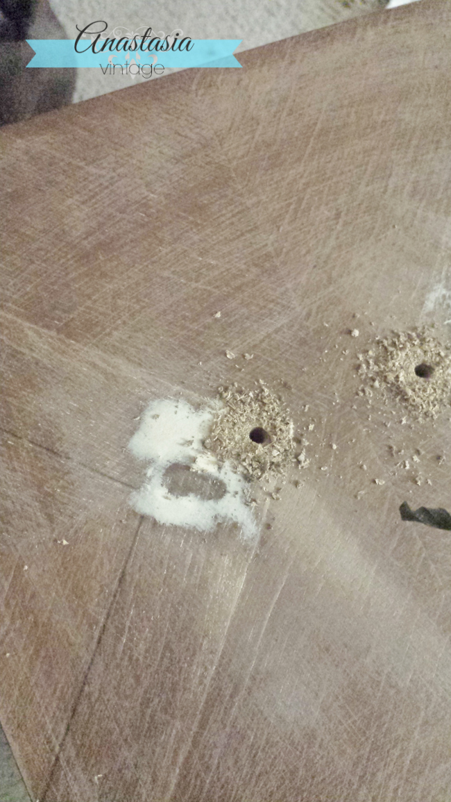 drilling holes for new drawer handware
