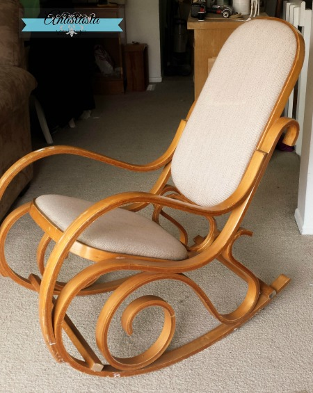 vintage bentwood rocking chair before mother's day