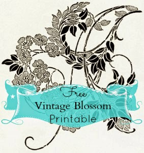 free vintage ornate blossom printable
