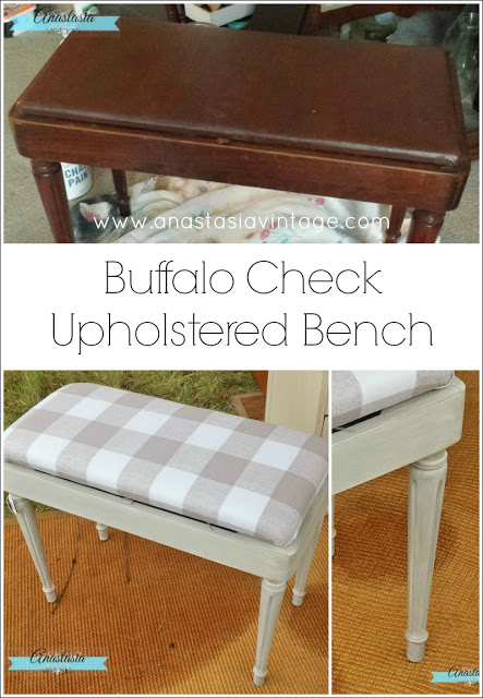 Buffalo Check Upholstered Bench