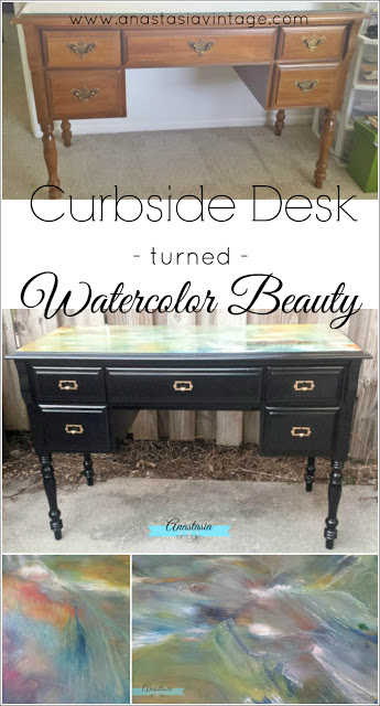Curbside Desk Turned Watercolor Beauty