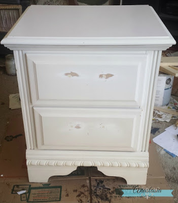white nightstand before