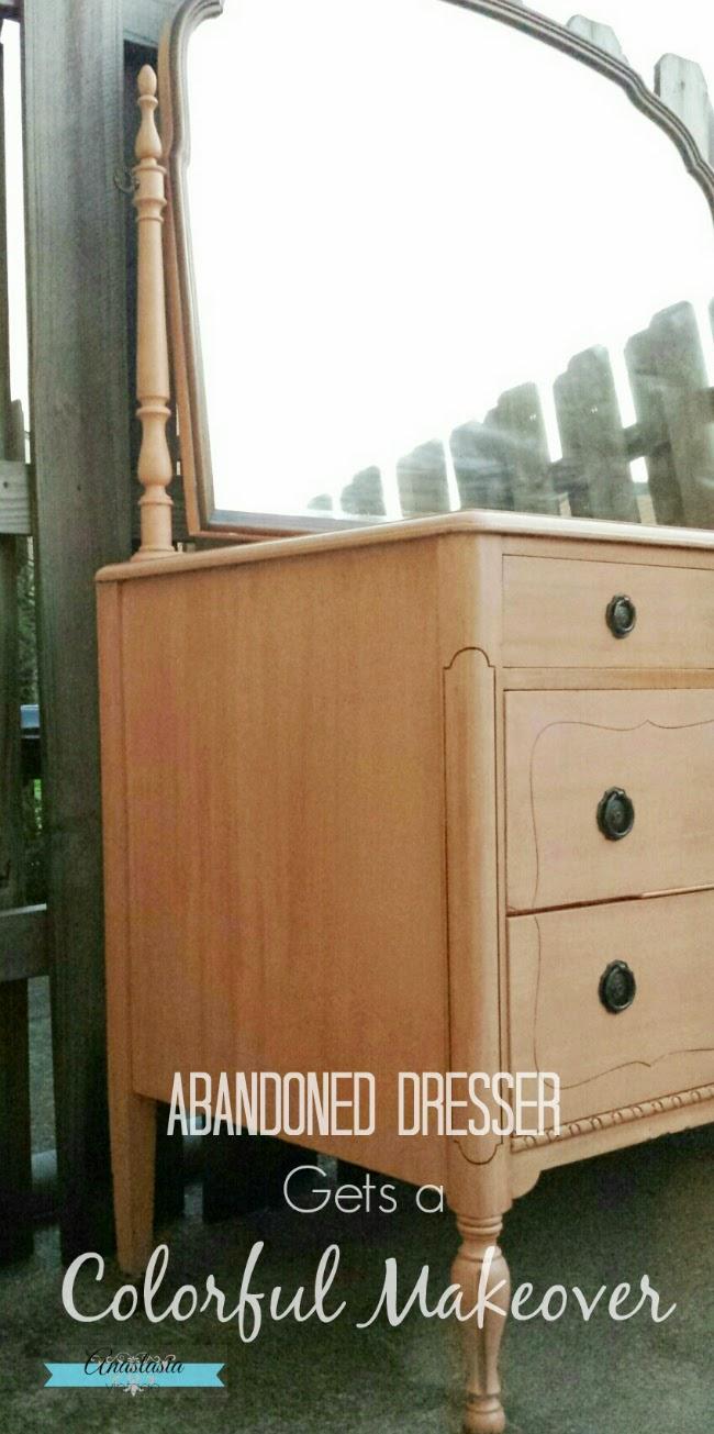Abandoned Dresser Gets A Colorful Makeover Anastasia Vintage