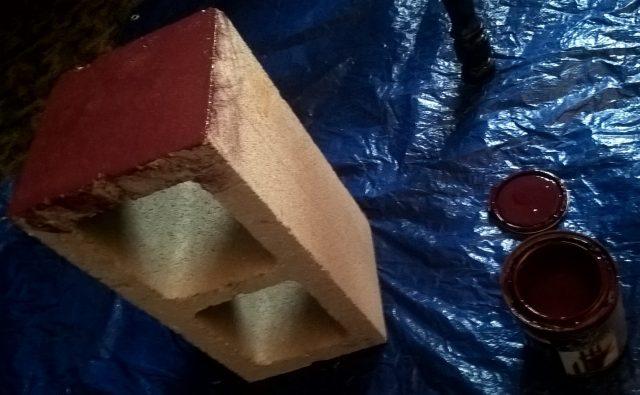 Coloring cinder block
