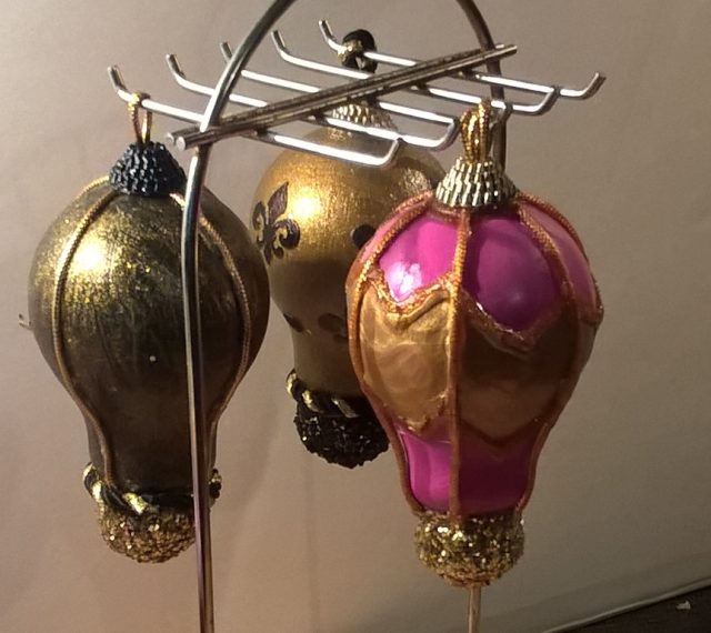 pink and gold ornament
