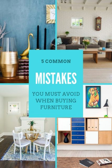 Common Mistakes Avoid When Buying Furniture